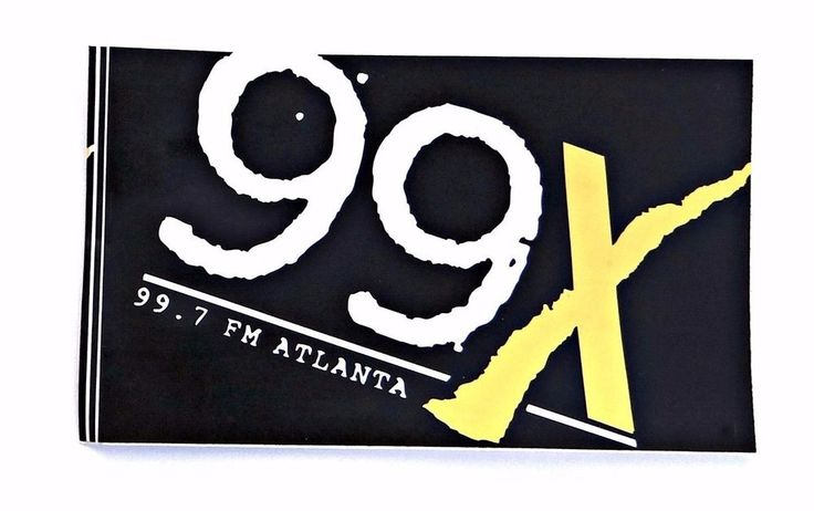 Vintage 99X WNNX Atlanta Alternative Radio Station Sticker Decal 1993  #WNNXAtlanta99X