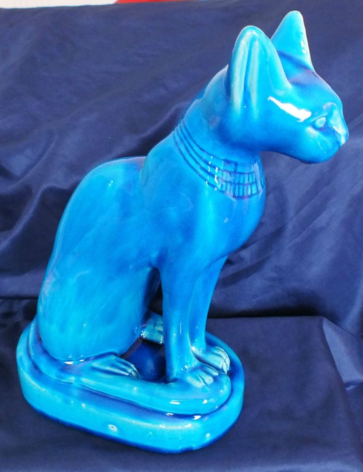 Turquoise Cat Figurine 12 inches | eBay
