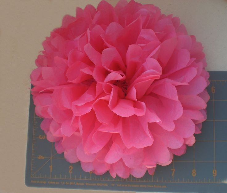 Centerpiece Large 9 Tissue Paper Flowers 7 Party Wedding Baby