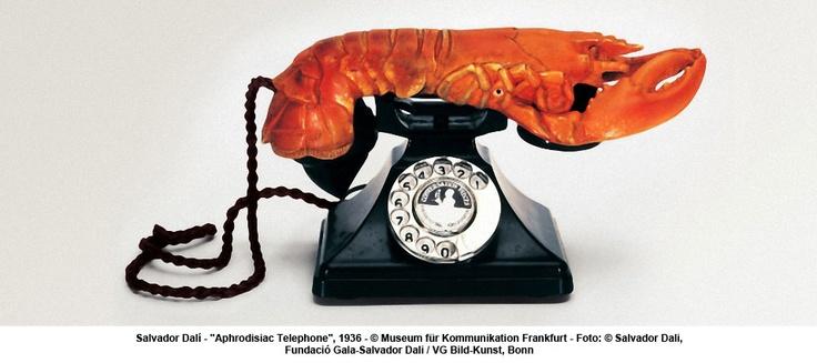 """artwork: Salvador Dalí - """"Aphrodisiac Telephone"""", 1936"""