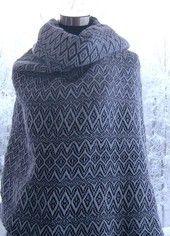 Hand woven shawl, 100% wool.