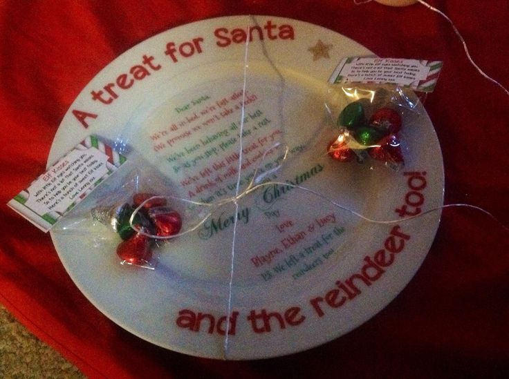 Santa plate delivered by Lenny