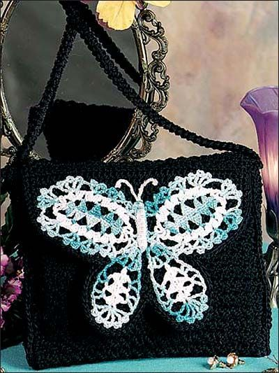 Butterfly Shoulder Bag By  Maggie Petsch Chasalow - Free Crochet Pattern With Website Registration - (freepatterns)