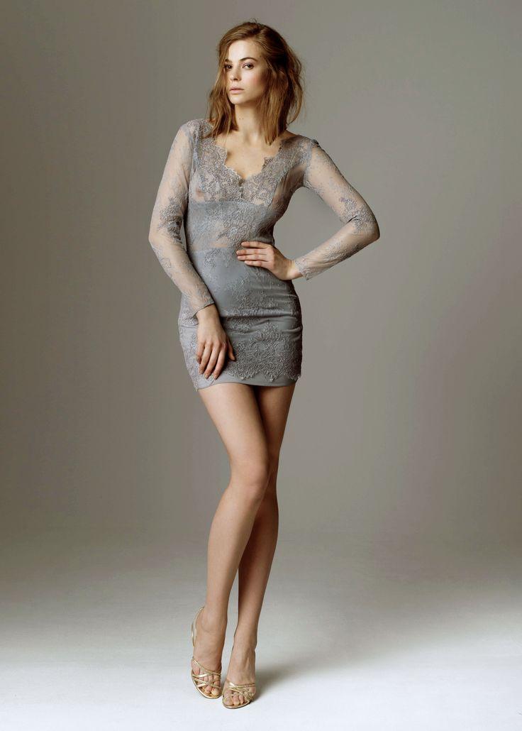 2015 evening dress collection by Sylwia Kopczynska Grey - sexy version