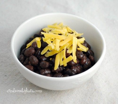 crock pot black beans (use dry black beans) pour over rice or quinoa and add a salad for a delicious dinner!