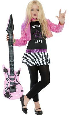 Rock Star Glam Girl Kids Costume by Smiffy's