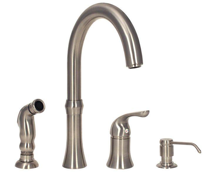 202 Best Kitchen Faucents Images On Pinterest  Kitchen Faucets Entrancing 4 Hole Kitchen Faucet Design Decoration