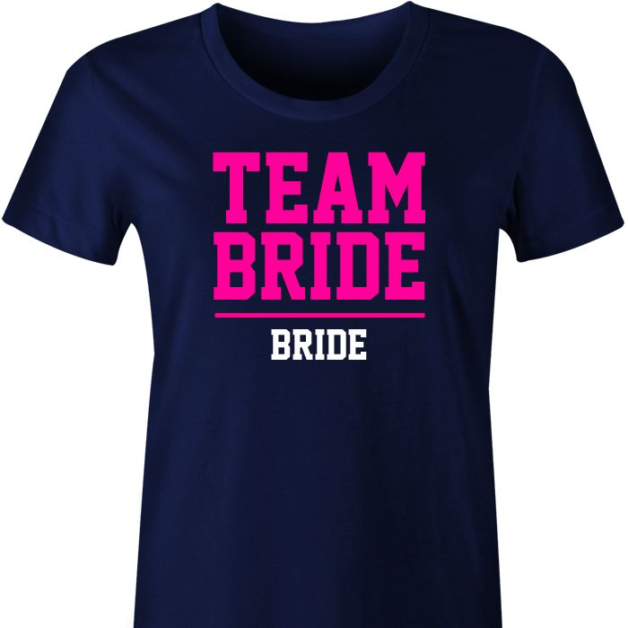 Team Bride Personalised TShirt Make sure the girlsfeelspecial in one of these stunning Team Bride tshirts! Team Bride with your choice of text (eg bridesmaid, bride, maid of honour),&nb...