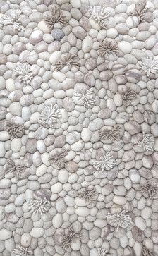 Blooming Ice Runner Rug, 3.5' X 5.5' - contemporary - Rugs - Artajul Rugs