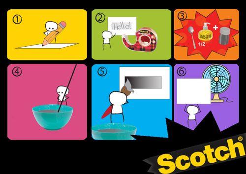 Ahora puedes hacer tus propias tarjetas para raspar con productos Scotch®.