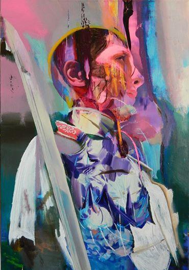 Giuseppe Gonella The Soldier's Garden 2014, Acrylic on canvas/Acryl auf Leinwand 100 x 70 cm