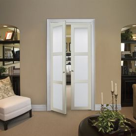 Double Doors in a standard doorway // looks great for a small space