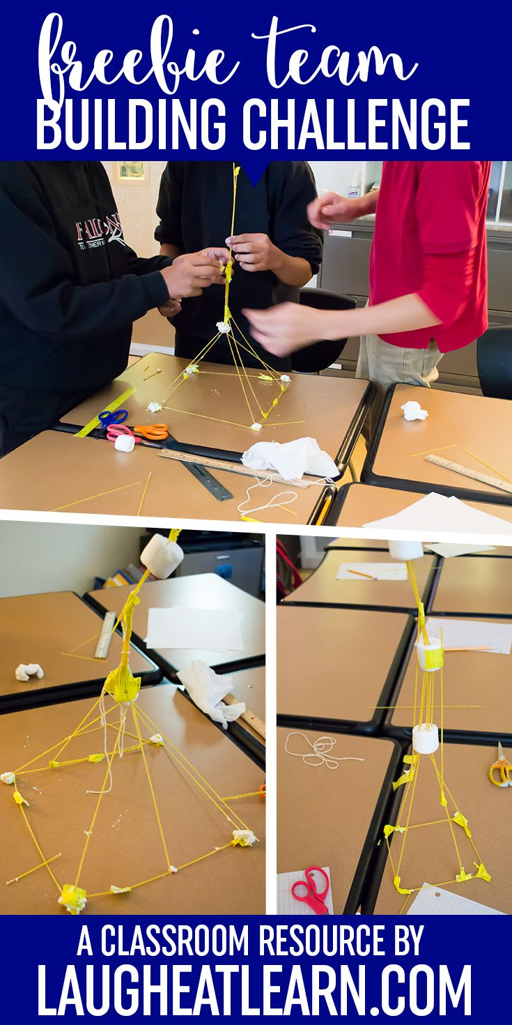 The marshmallow challenge is the ultimate team building activity for any age. The challenge is pretty simple and the best part, cheap for the teachers. Each team must build a freestanding structure using the materials provided, spaghetti noodles, tape, string, and a marshmallow. This collection of free handouts are for teachers to display overhead, give a copy to each team and there is even one with a sketch-able space for teams to plan before they begin building.