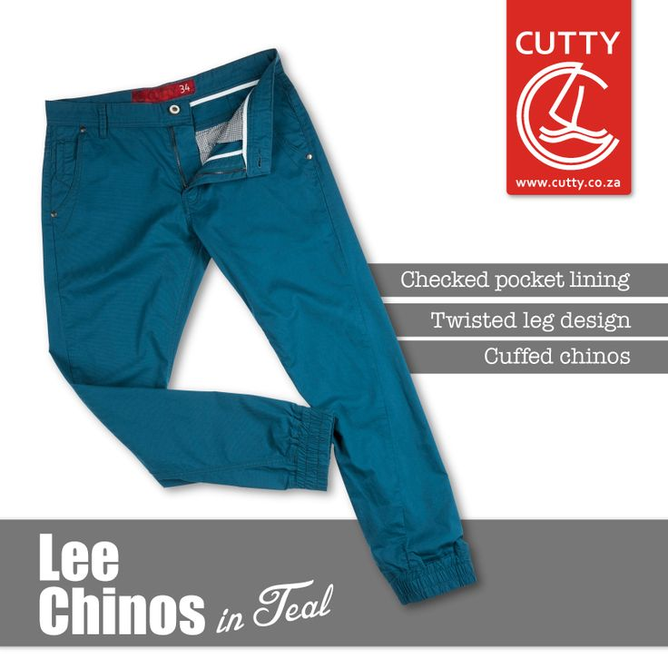 Chinos with a twist. Cutty's Lee Cuffed Chinos are essentially joggers made from a cotton fabrication with a cool twisted leg design, checked pocket inner and branded button.