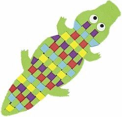 We are going to make the crocodile from peter pan! We will weave in a pattern, and talk about how they want their crocodile to be. Will he be nice? Will he be their pet? Will he be hungry? This allows for great speech production and language sampling.