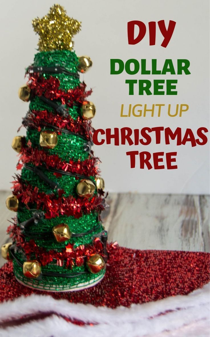 Dollar Tree Christmas Craft Light Up Christmas Tree Holiday Crafts Christmas Christmas Crafts Dollar Tree Christmas