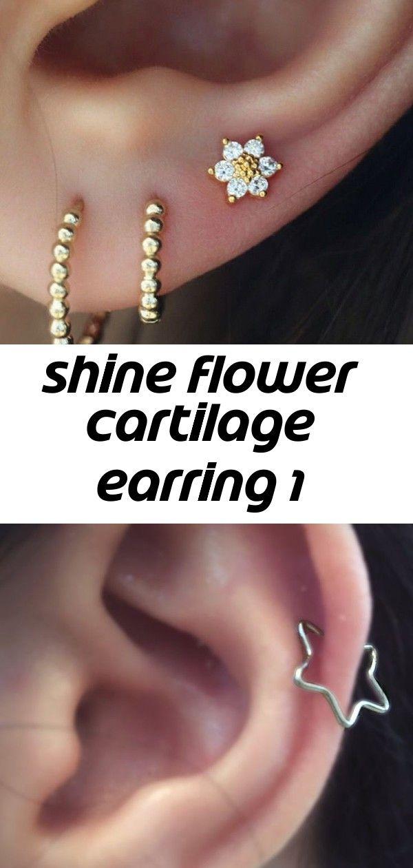 Tiny Flower Cartilage Piercing Earpiercing Cartilagepiercing