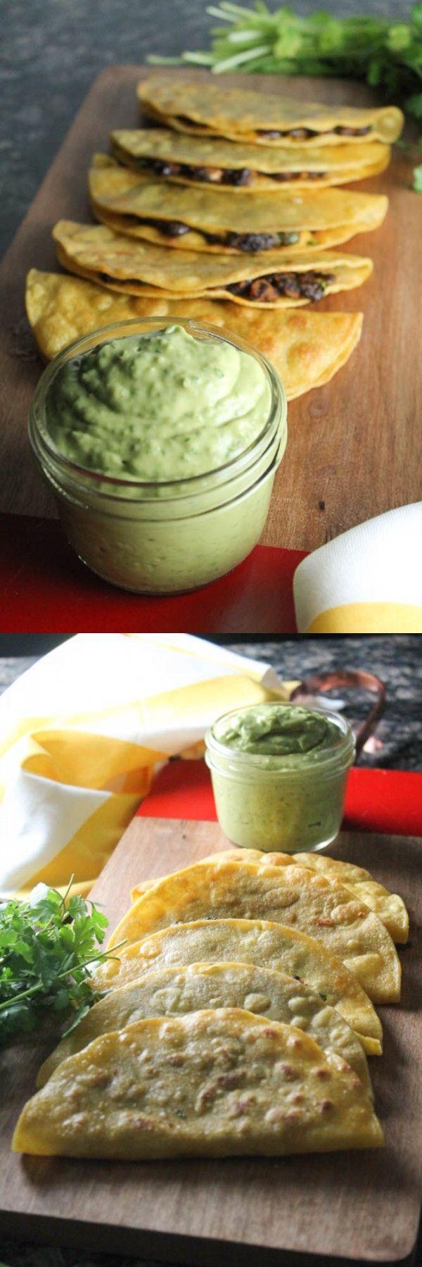 Crispy Black Bean Tacos with Avocado Lime Sauce