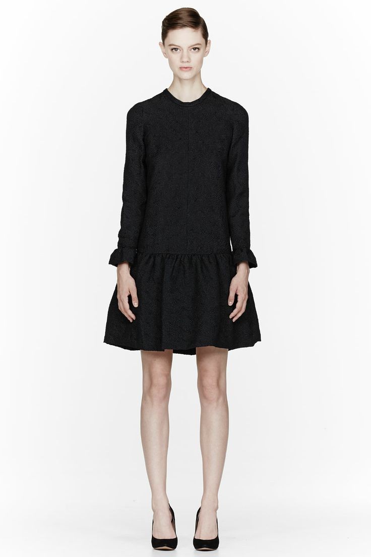 Chloe Black Dahlia Jacquard Dress