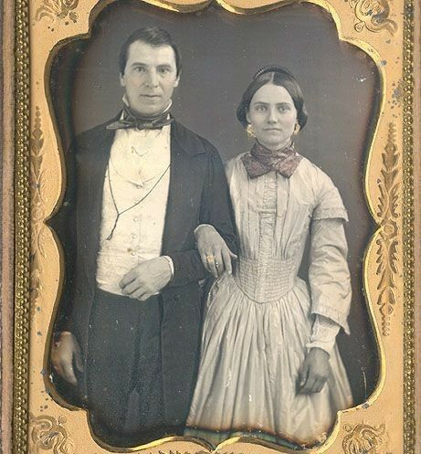 Just plain folks, earnest and forthright! I like them...1850s.