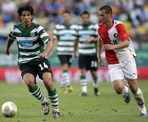 Matias Fernandez no Sporting v Alkmaar