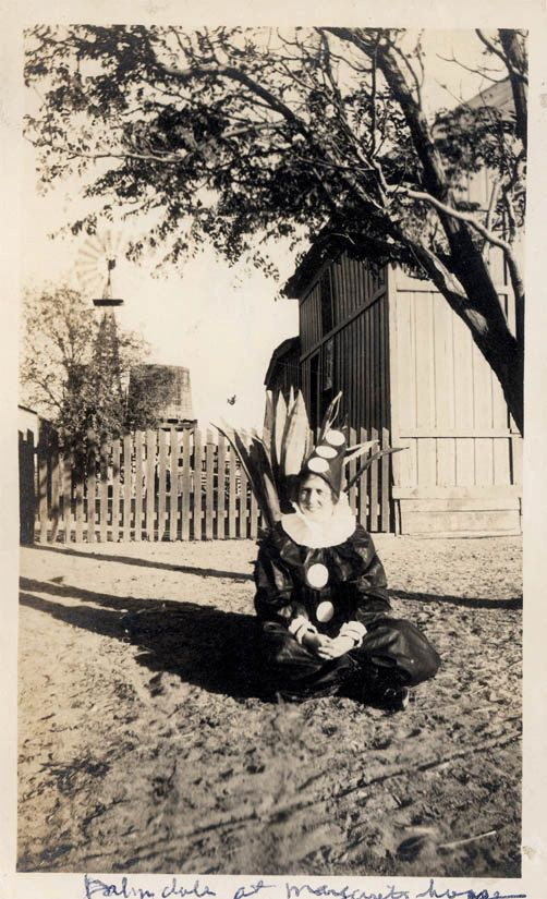 vintage photo 1915 Woman costume Pierrot Clown Palmdale California Sits by Tree by maclancy on Etsy https://www.etsy.com/uk/listing/246656138/vintage-photo-1915-woman-costume-pierrot