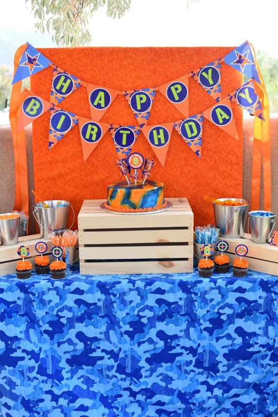 Nerf Gun Birthday Invitations Dart Wars by DelightPaperie on Etsy