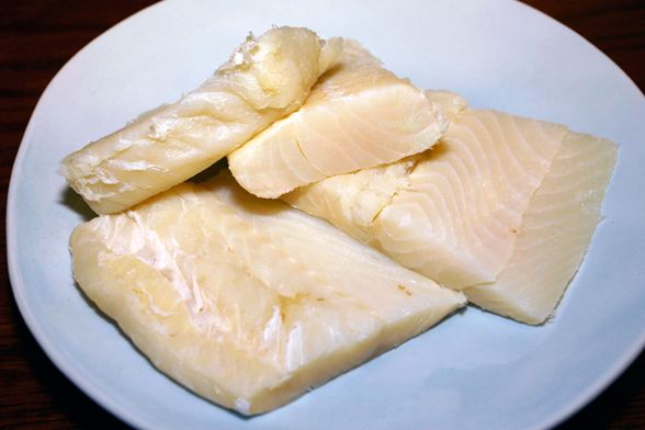 How to Prep Baccala - wash off salt, soak in fresh water for 36-48 hours, change water 3x a day