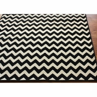 Alexa Chevron Vibe Zebra Rug (5'3 x 7'6)   Overstock.com  GREAT price and easy clean for a kids room!
