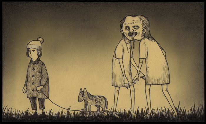 Born in Denmark in 1978, John Kenn spends his days writing and directing television shows for kids. When he has time between TV and his twins, he draw...