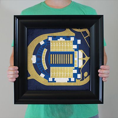 Navy Marine Corps Memorial Stadium located at the United States Naval Academy in Annapolis, Maryland | College football prints from City Prints put you back in the stands on Saturdays. City Prints look like modern art and remind you of the unforgettable moments you experienced in your favorite seats