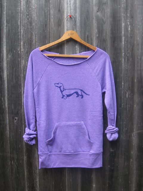 from here to there Dachshund Sweatshirt, Doxie Shirt, Dachshund Sweater, S,M,L,XL. $36.00, via Etsy.