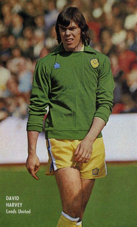Leeds goalkeeper David Harvey pictured in 1974.