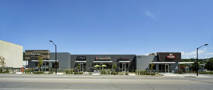 1000 images about shopping strip center on pinterest for Modern retail building design