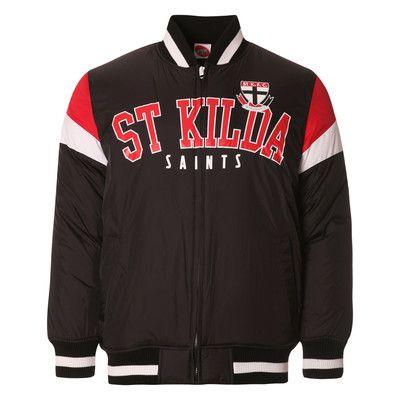 AFL Mens Fan Varsity Jacket St Kilda Saints [Size: S]