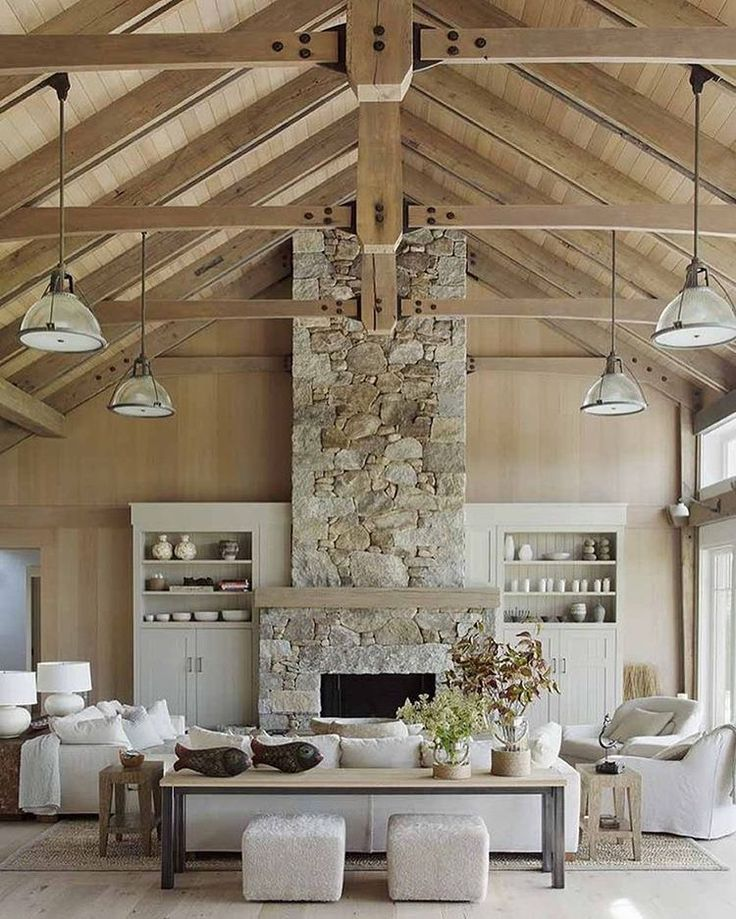 Walls, beams, and everything in between - we can't get enough of the warmth that comes with natural wood! See how to get the look and the rest of our 2017 predictions on the blog! Architecture and design: @hutkerarchitects @mvinteriordesign