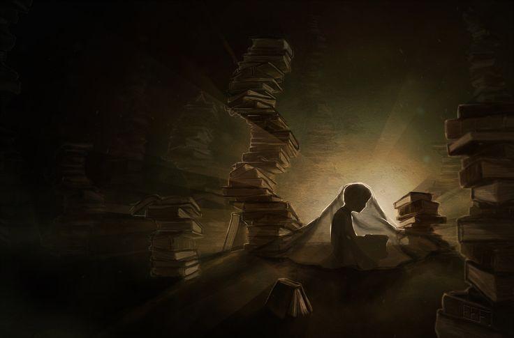 Eveline Verburg  A Little Night Reading by supersyndrome.deviantart.com on @deviantART