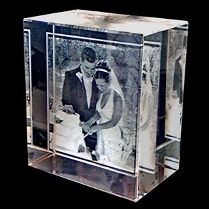 Picture Encased In Glass Unique Wedding GiftsPersonalized