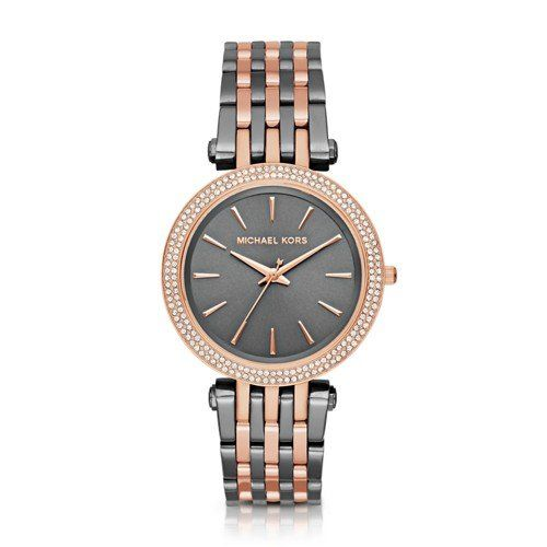 Michael Kors Women's Darci Grey Rose Gold-Tone Watch MK3584 -- Find out more...