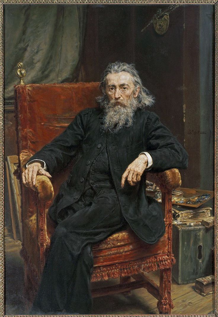 Jan Matejko ~ Self-portrait ~ 1892 ~ Jan Matejko Academy of Fine Arts ~ Kraków, Poland ~ The first President of the Academy was painter Jan Matejko (Polish, 1838-1893) who brought in other leading artists as professors. He was a Polish painter known for paintings of notable historical Polish political and military events.