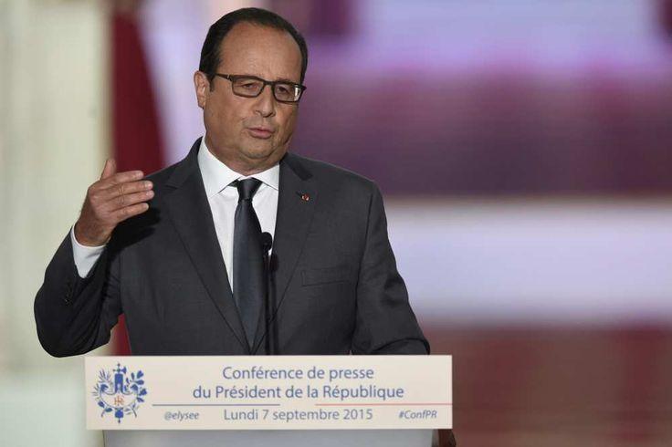 François Hollande tient ce lundi sa sixième conférence de presse semestrielle. - AFP