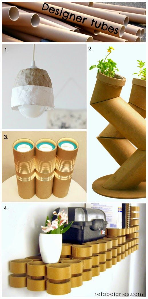 Save those cardboard tubes for awesome upcyling for Where to buy cardboard tubes for craft