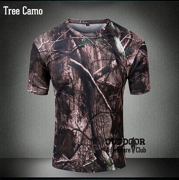 Summer Outdoors Military Camouflage T-shirt Men Tactical Army Combat T Shirt Quick Dry Camo Hunt Clothing Casual O Neck Tshirt