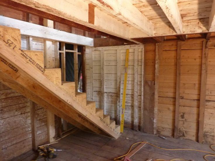 103 best images about garage ideas on pinterest garage for Garage loft stairs