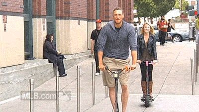 Just Hunter Pence and his scooter.