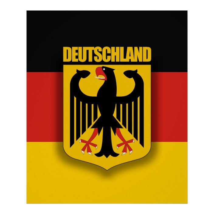 German Flag Coat Of Arms Poster Zazzle Com In 2020 German Flag Coat Of Arms Germany Flag