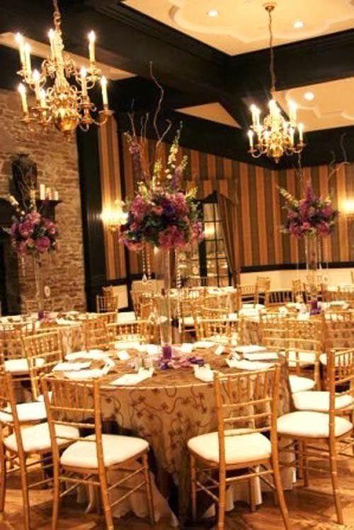 2014 Gold Reception Wedding DecorationsPurple Centerpieces Decor