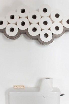 Lyon Beton Concrete Cloud Toilet Roll Shelf - Large