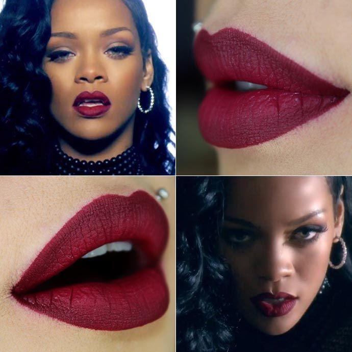 Tutorial – copie o ombré lips da Rihanna no clipe Can't Remember to Forget You