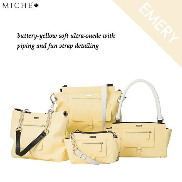 We could all use some sun right about now. Emery will melt you heart while making any outfit a whole lot sunnier! *Miche Canada* #michecanada #michefashion #improveyourlife #letsparty #directsales #fashion #style #purses #handbags #accessories